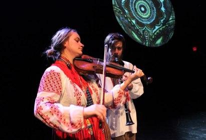 Performing at La Mama Theatre, New York, 2013