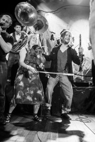Performing with Lemon Bucket Orkestra 2014